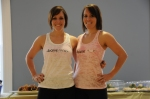 Jess and I in our super fabulous barre n9ne attire (oh, how I adore pink!)