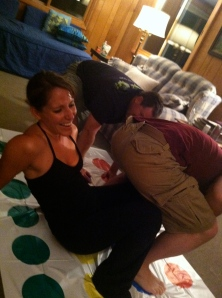 This picture cracks me up - also from the epic Maine bloggy meetup, Twister FTW!