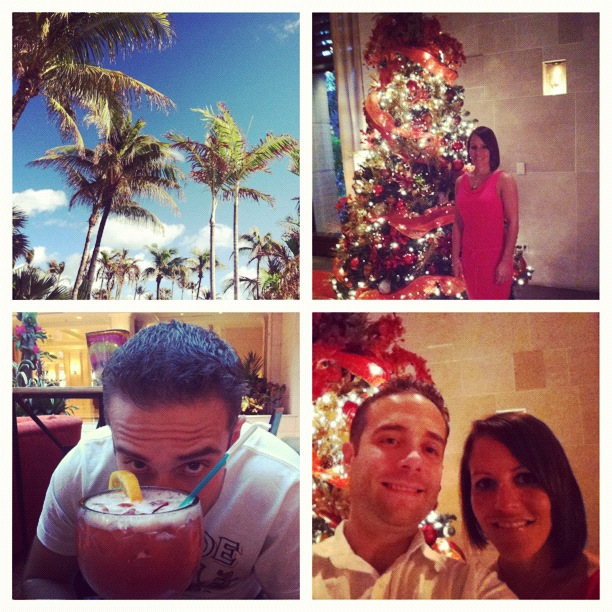 It was incredibly weird, but SO cool to hear Christmas music and see Christmas trees while in the tropics!